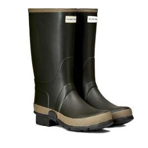 Hunter Women's Gardener Boot Dark Oliv