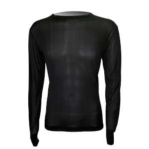 Steiner Mens Silk Long Sleeve Vest Bla