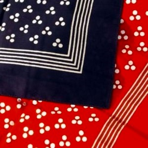 Large Spotted Handkerchiefs Red