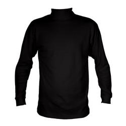 Manbi Junior Cotton Roll Neck Black