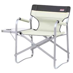 Coleman Deck Chair With Table Khaki