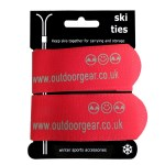 Jumbo Ski Ties (Pair) Red