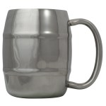 Eco Vessel 8oz Double Barrel Mug Silve