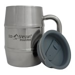 Eco Vessel 16oz Double Barrel Mug Silv