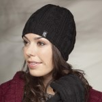 Ladies Heat Holder Chunky Cable Hat