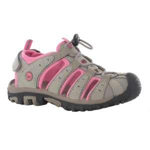 Hitec Girls Shore Sandal Grey/Bubblici