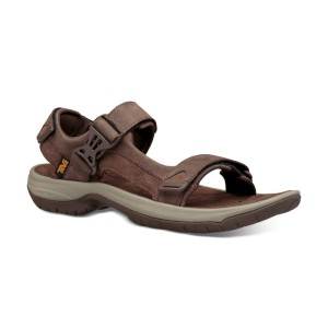 Teva Tanza Leather Sandal Chocolate Br