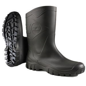 Dunlop Short Wellington Boots Black