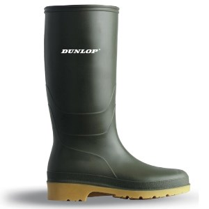 Dunlop Youths Wellies PVC Green