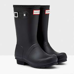 Hunter Kids Wellies Black