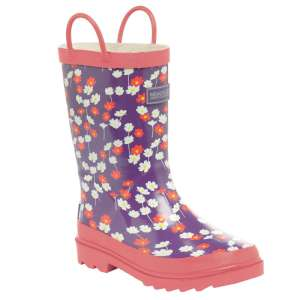 Regatta Minnow Junior Welly Purple Hea