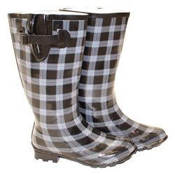 Wide Calf Patterned Wellingtons