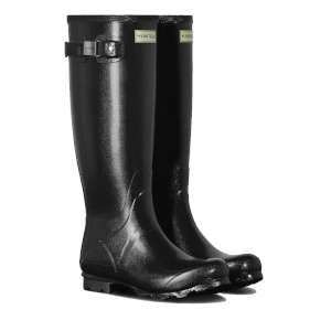 Hunter Womens Field Gloss Wellies Blac