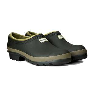 Hunter Womens Gardener Clog Dark Olive