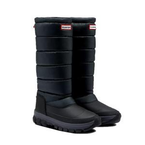Hunter W Original Tall Snow Boot Black