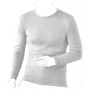 Oswald Bailey Mens LS Thermal Vest Whi