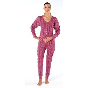Women's Thermal Onesie Star Print