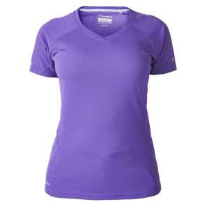 Berghaus Womens Tech Tee SS V Neck Ele