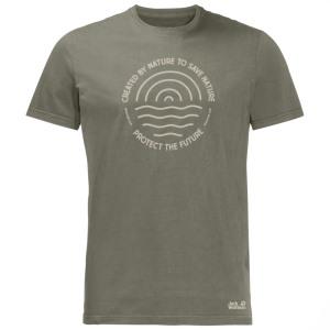Jack Wolfskin Slogan T Shirt Burnt Oli