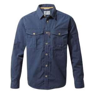 Craghoppers Kiwi Ripstop Shirt Blue Na