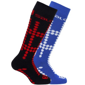 Salomon Team Junior Ski Socks 2 Pack B