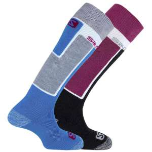 Salomon Womens Elios Ski Socks 2 Pack