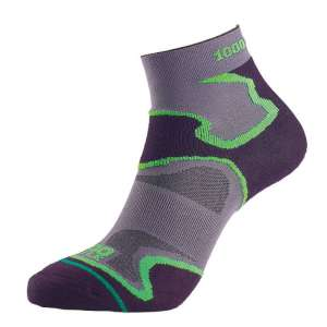 1000 Mile Fusion Anklet Sock Black/Gre