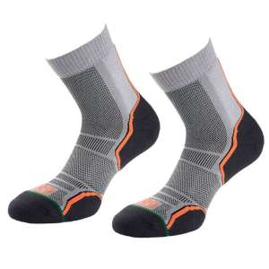 1000 Mile Trail Sock - 2 Pack Grey/Bla