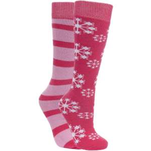 Trespass Kids 2pk Lori Ski Socks Sorbe
