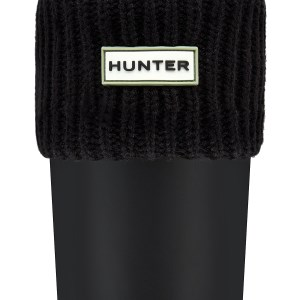 Hunter Ribbed Cuff Boot Socks Black