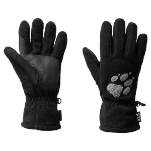 Jack Wolfskin Paw Fleece Gloves Black