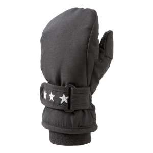 Manbi Snowpaw Kids Snow Mitt Black