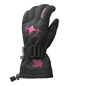 Manbi Womens Epic Ski Gloves Black/Fuc