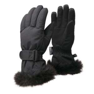 Manbi Womens Angel Ski Gloves Black