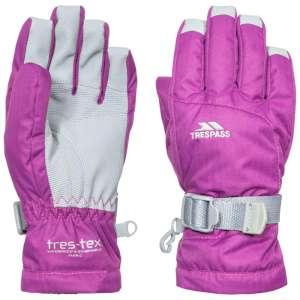 Trespass Simms Kids Ski Gloves Purple