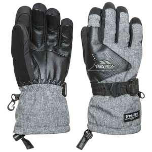 Trespass Amari Leather Ski Gloves Grey