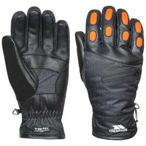 Trespass Argus Mens Ski Gloves Black
