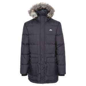 Trespass Baird Down Parka Jacket Black