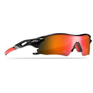 Trespass Slammed Sunglasses Black/Red