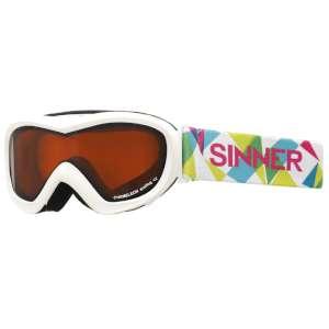Sinner Kids' Chameleon Goggles White M
