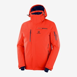 Salomon Brilliant Ski Jacket Cherry