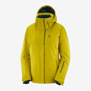 Salomon Womens Stormpunch Jacket Golde
