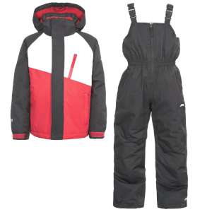 Trespass Kids Crawley 2pc Ski Suit Bla