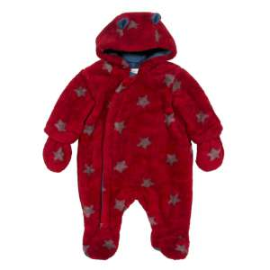 Kite Fleece Snowsuit Red Starry