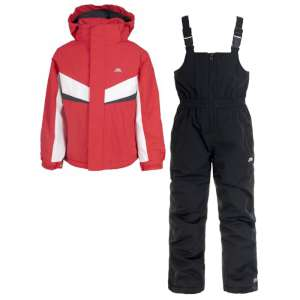 Trespass Kids Chamonix Ski Set Fire