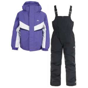 Trespass Kids Chamonix Ski Set Viola