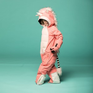 Weedo Kids Unicorn Snowsuit Pink