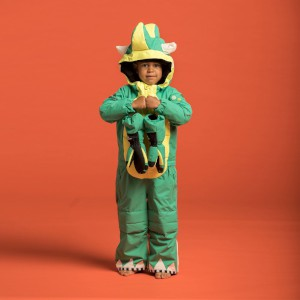 Weedo Kids Monster Snowsuit Green