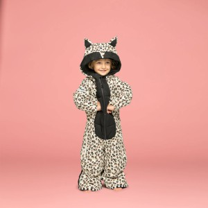 Weedo Kids Leopard Snowsuit White/Blk/