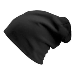 Manbi Long Beanie Microfleece Black